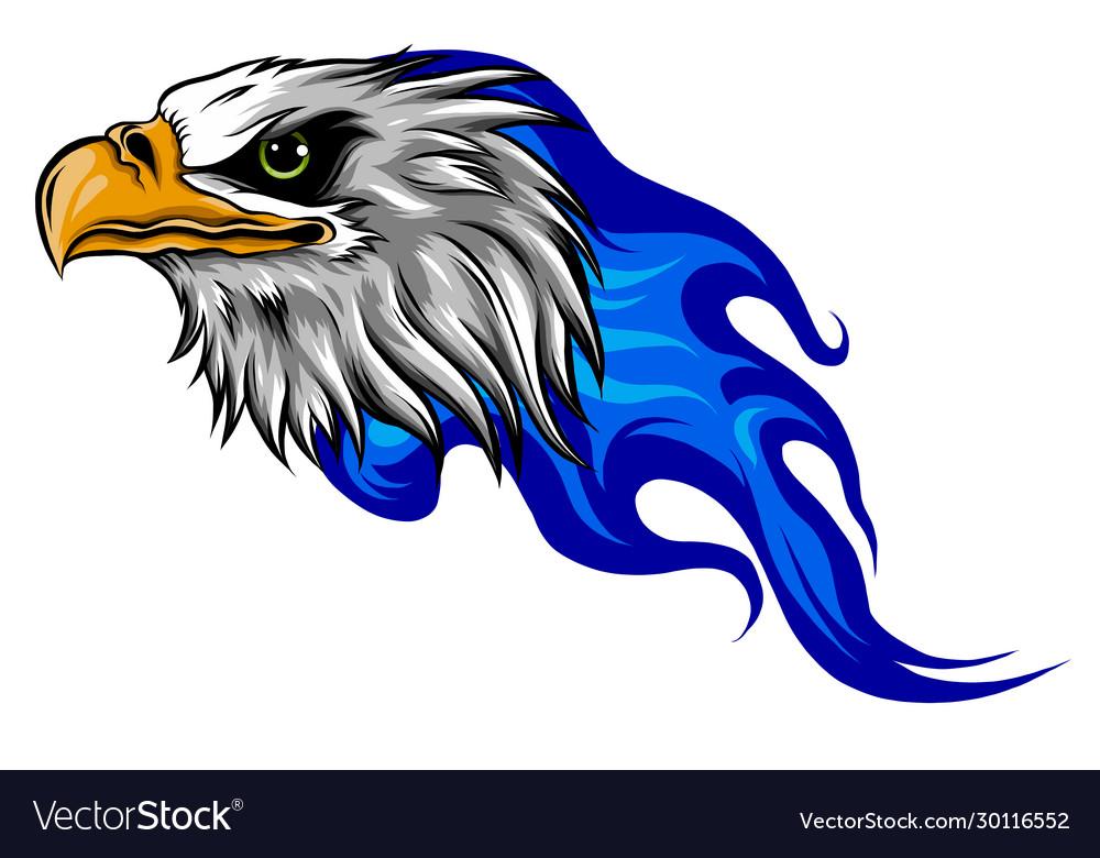 Eagle head flame template
