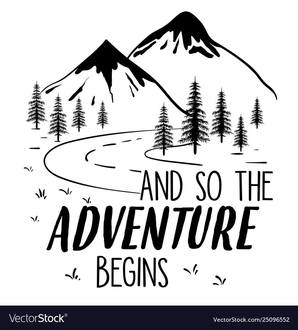 Explore adventure hand drawing