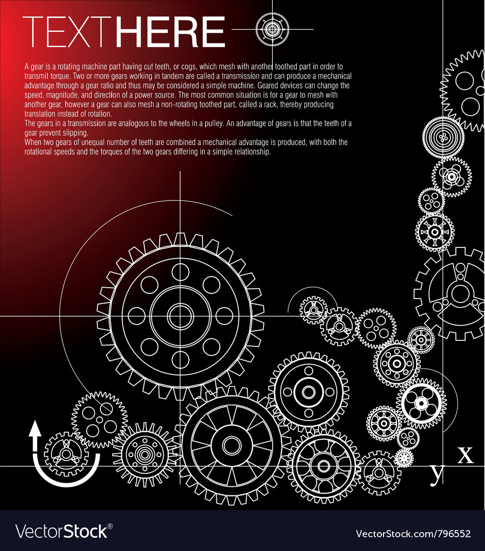 Gears-background vector image