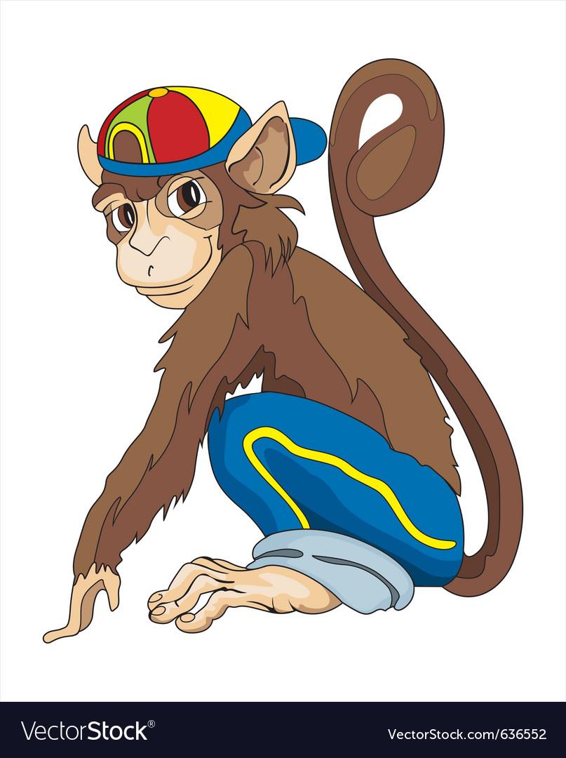 Monkey boy vector image