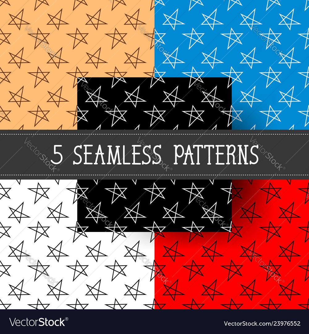 Set of five seamless patterns for your products