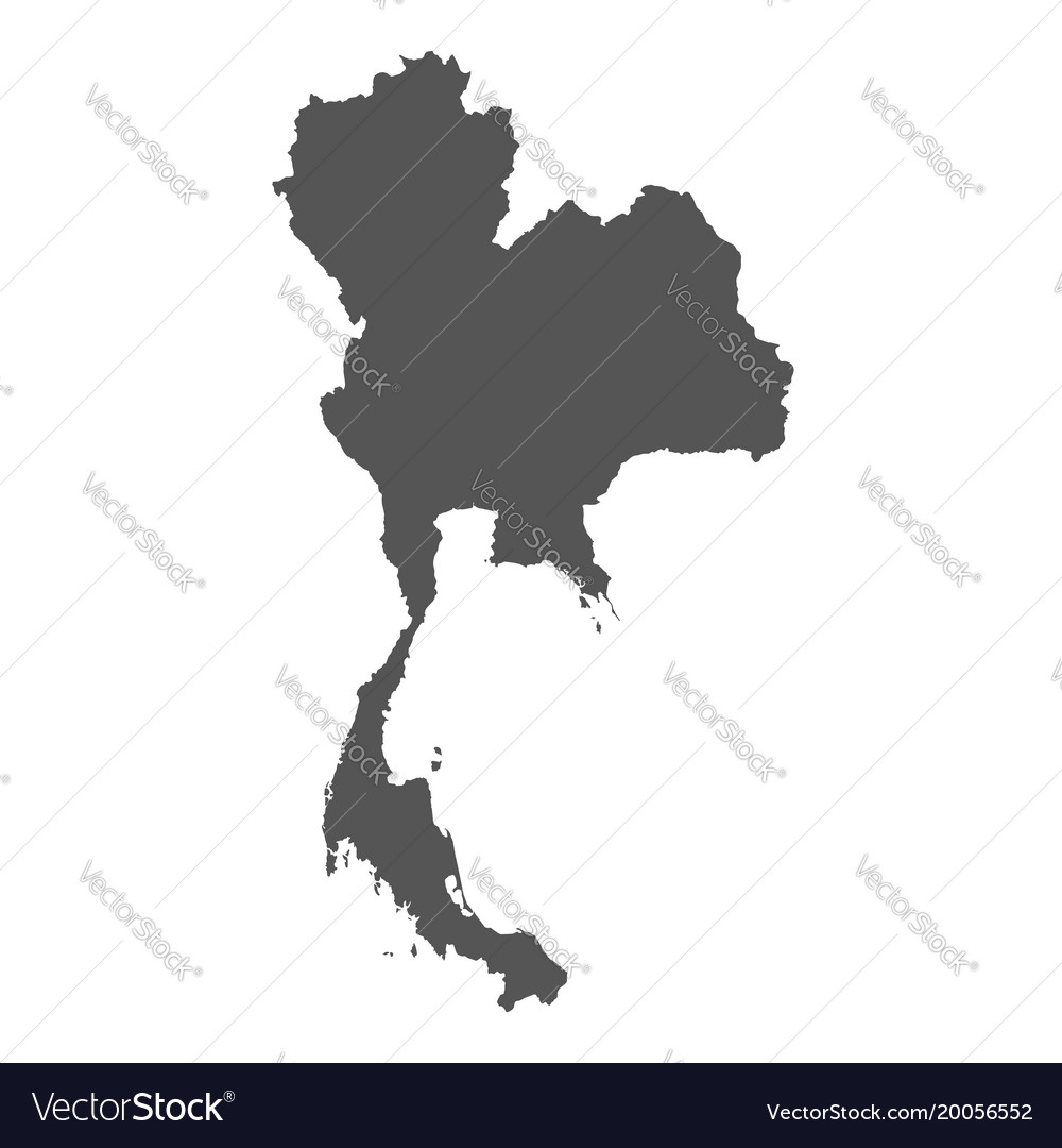 Thailand map black icon on white background vector image gumiabroncs Images