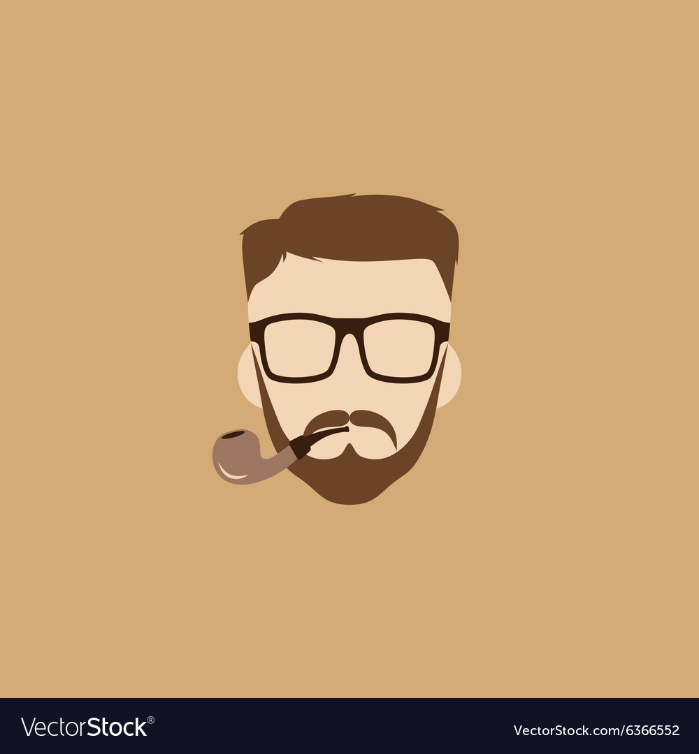 Tobacco pipe hipster guy