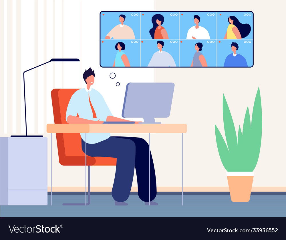 Video conference internet business call online
