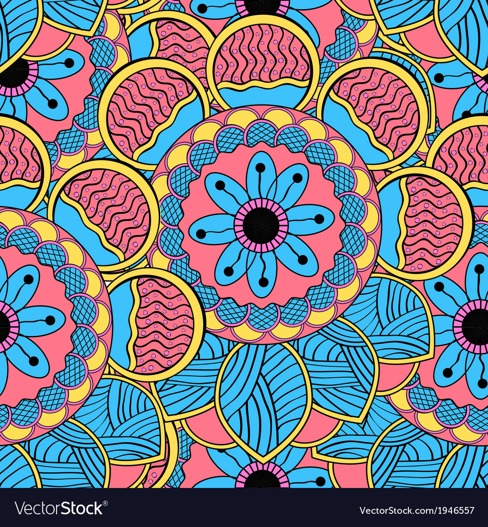 Abstract Color Endless Seamless Pattern