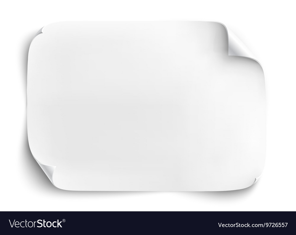 Blank sheet of paper isolated on white background vector image