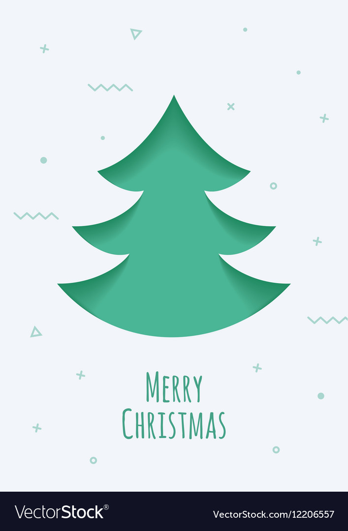 Christmas card with a green background in the