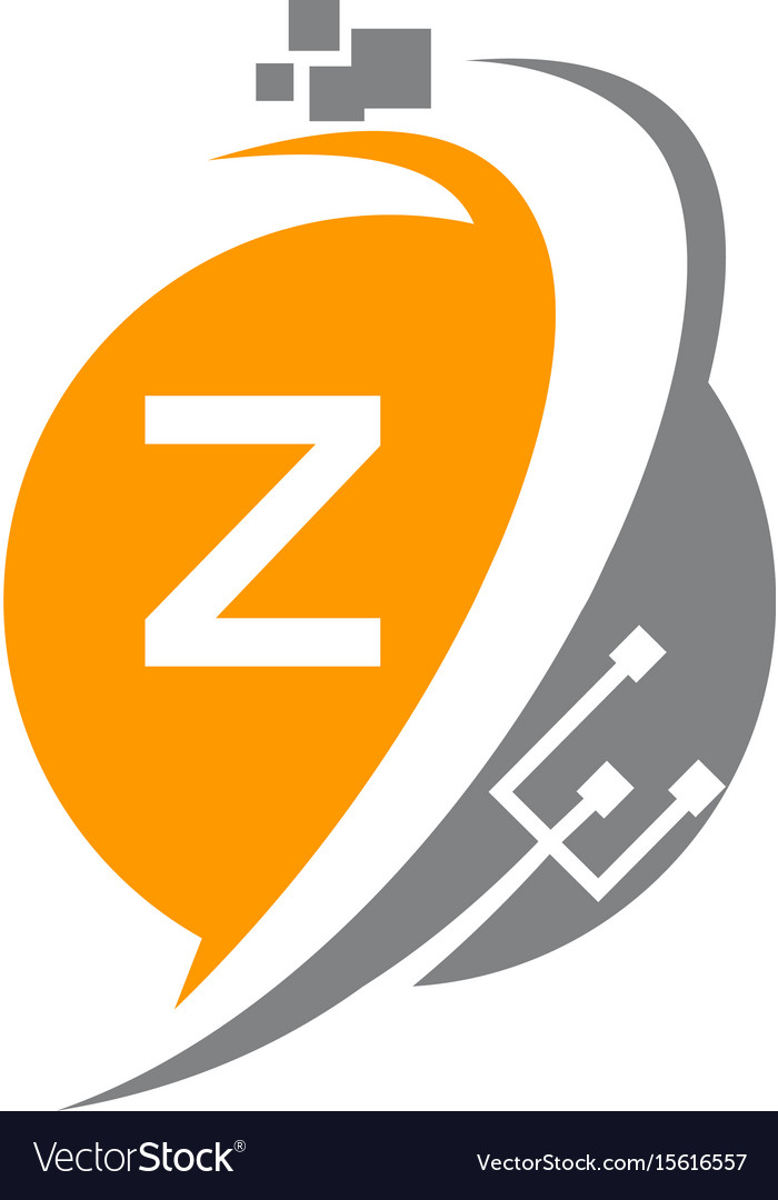 Digital world and electrical connections initial z