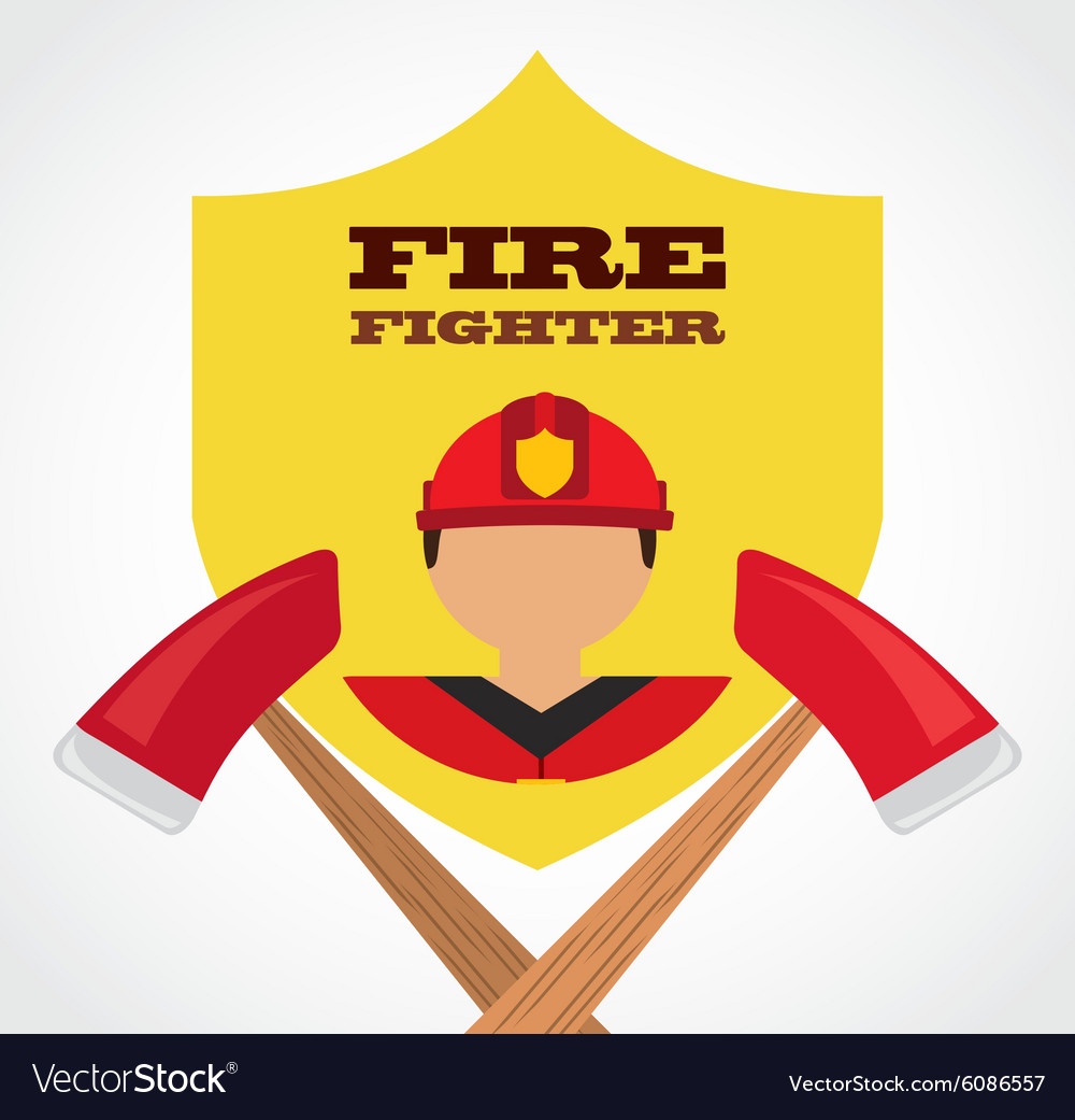 Fire fighter vector image