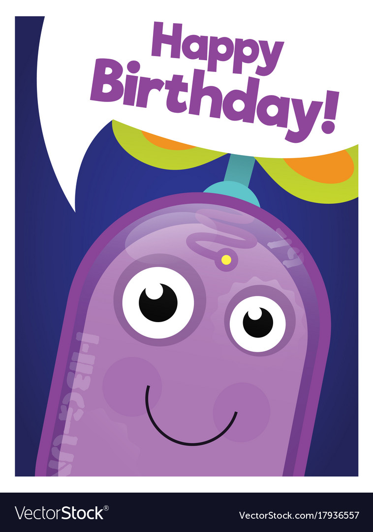 Funny robot happy birthday card
