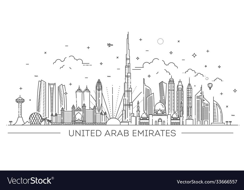 Linear banner united arab emirates