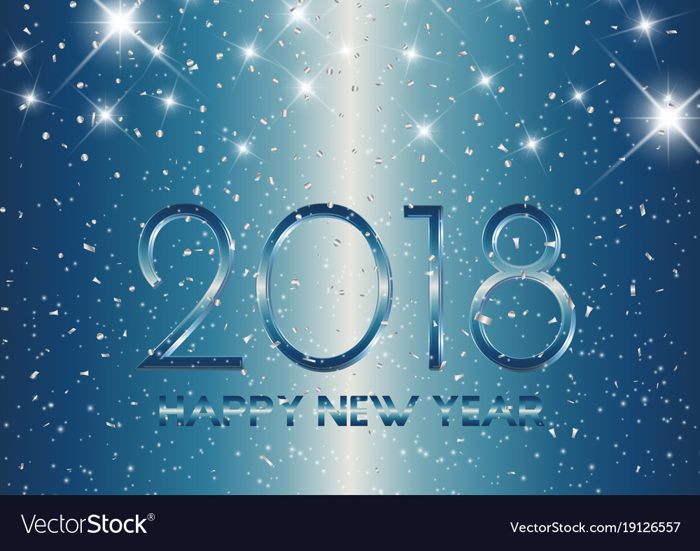 Metallic style happy new year background