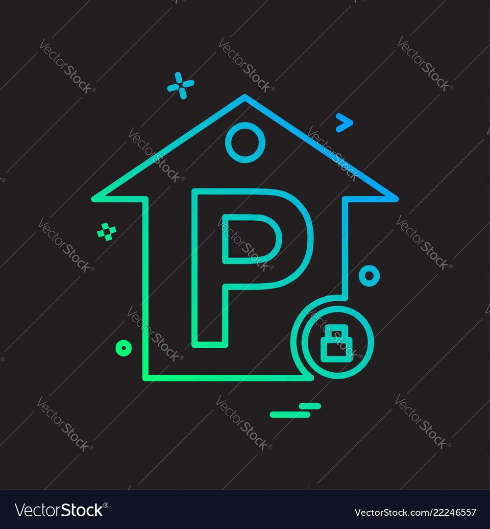 No parking icon design