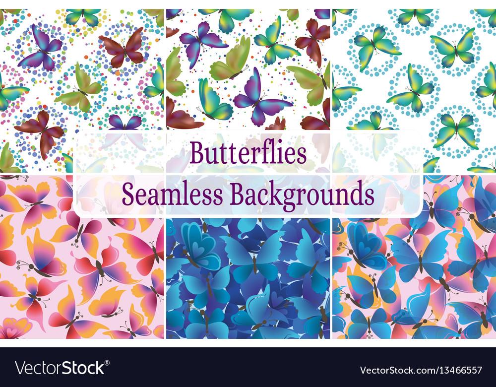 Seamless backgrounds butterflies