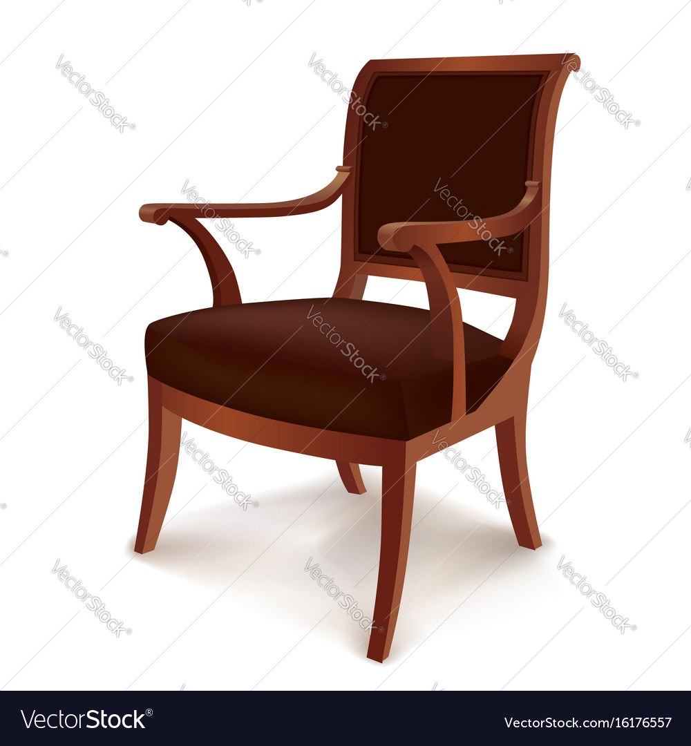 Vintage armchair chair isolated retro style