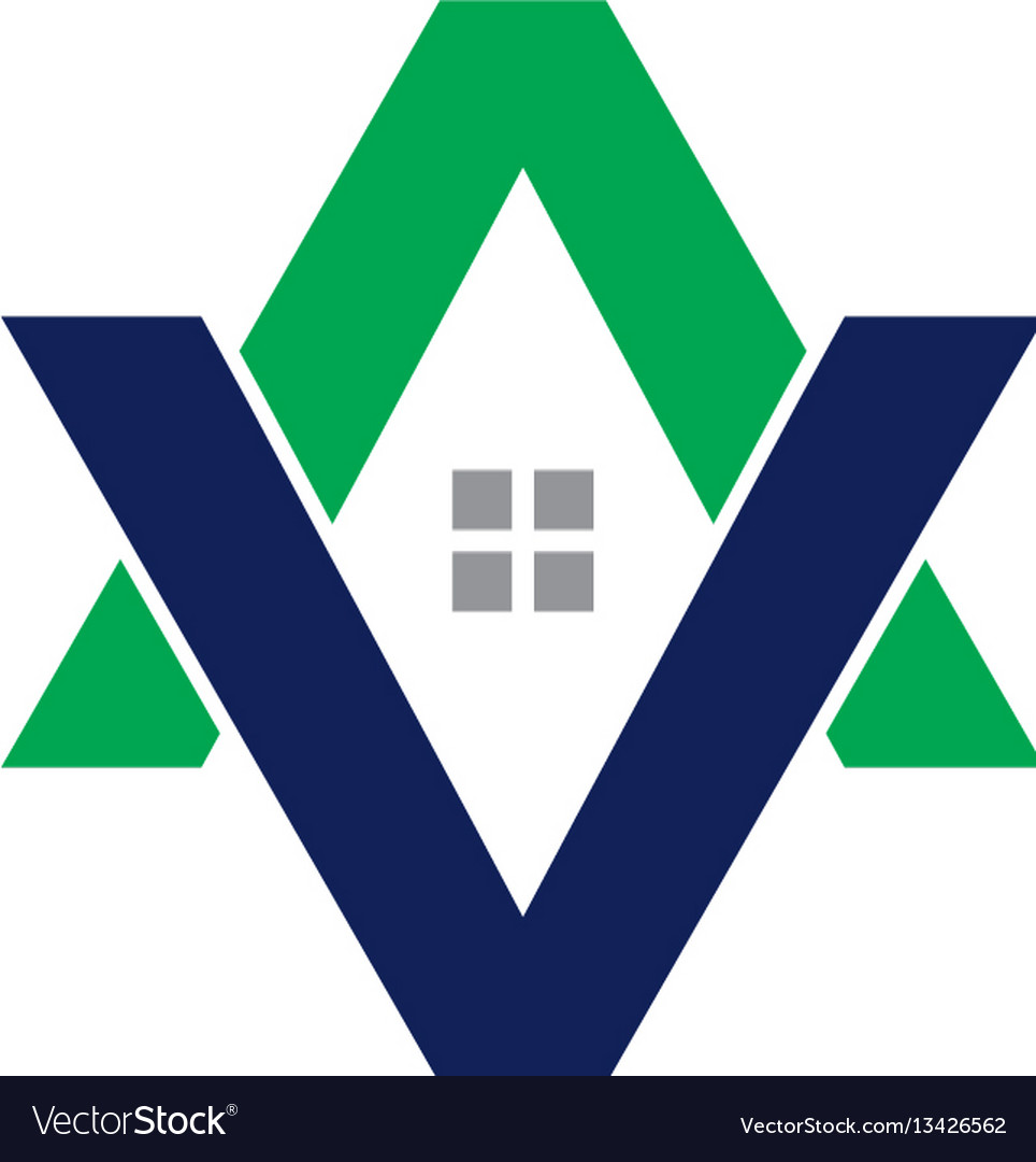 Av letter house logo