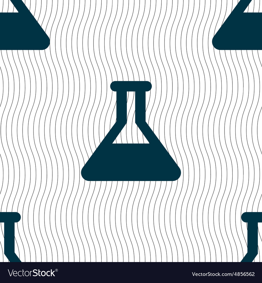 Conical Flask icon sign Seamless pattern with
