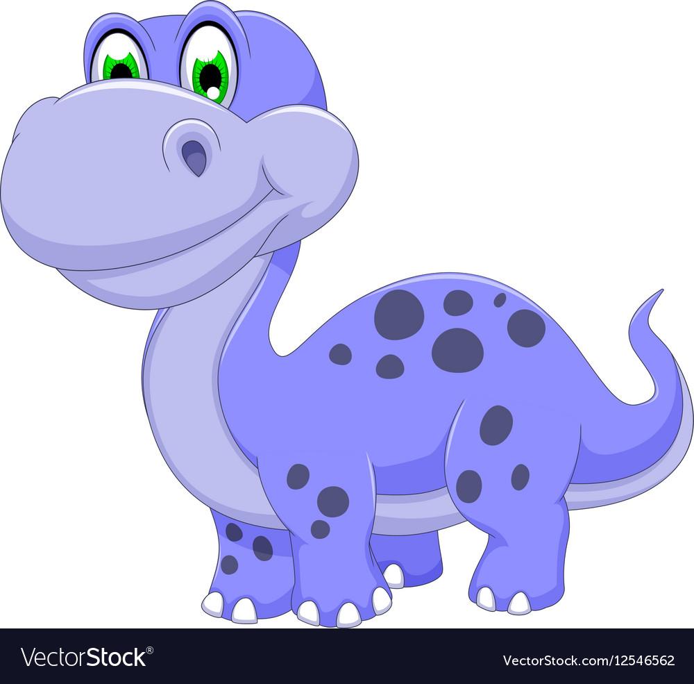 Cute Dinosaur Cartoon Smiling Royalty Free Vector Image