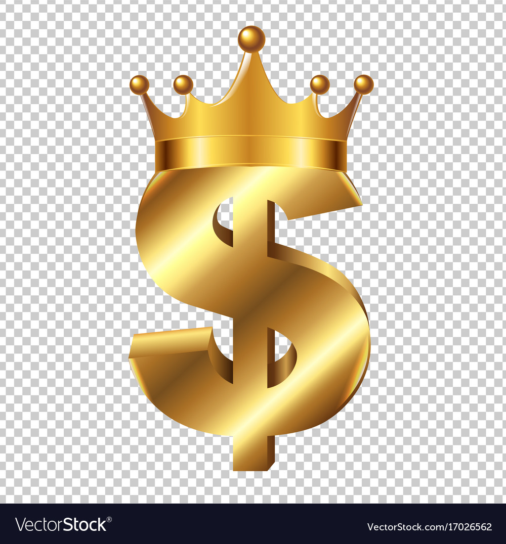 Dollar Sign With Crown Royalty Free Vector Image