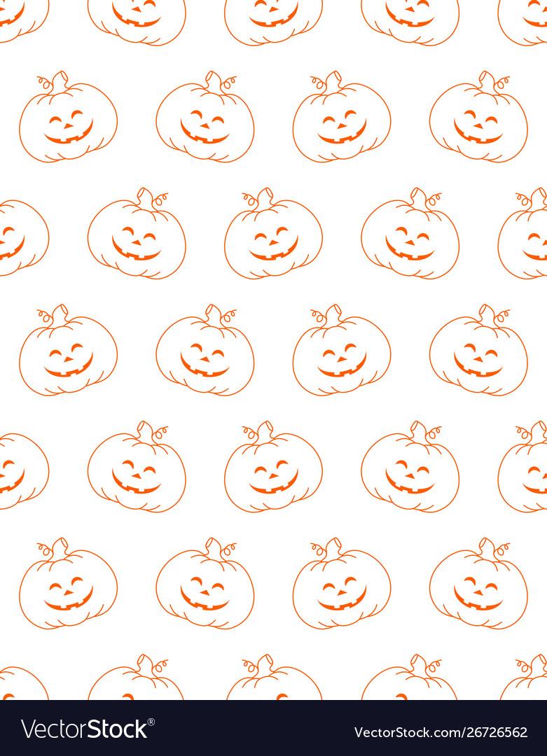 Halloween cute background pumpkin