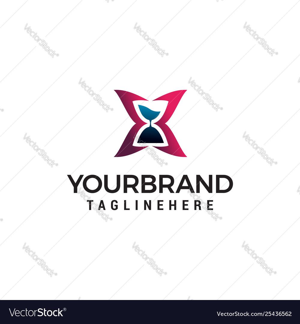Hourglass logo design concept template