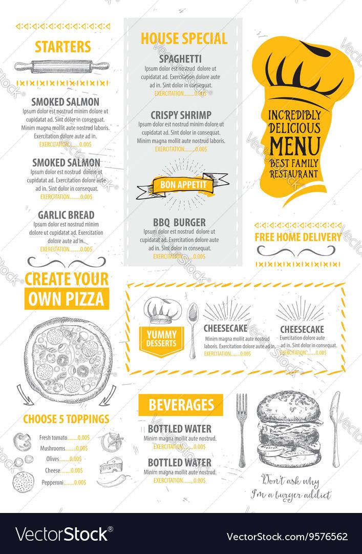 restaurant cafe menu template design royalty free vector