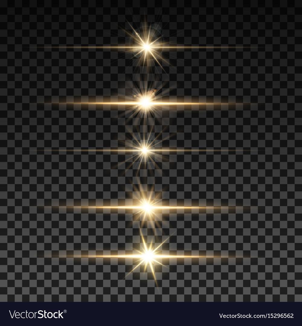 Set of lighting sparks on transparent background