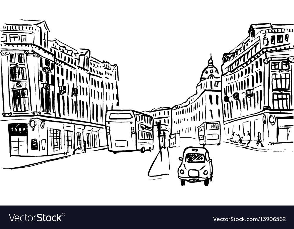 Sketch of regent street