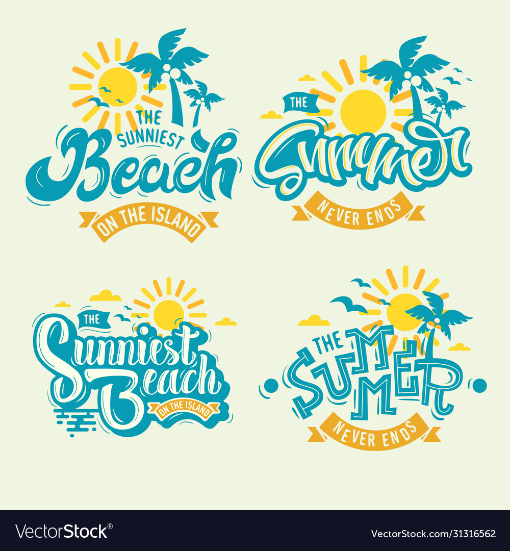 Summer time beach life hand lettering