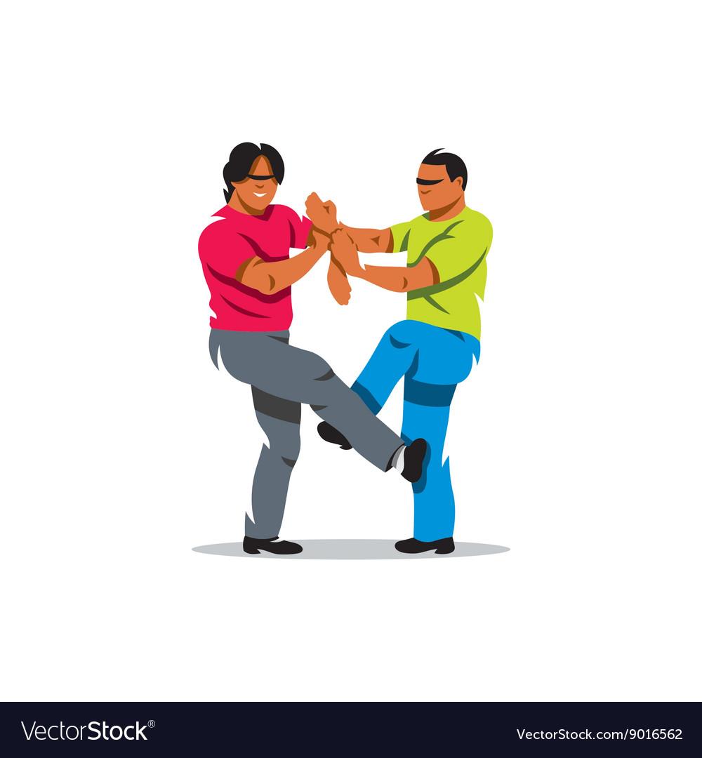 Wing Chun kung fu sparring Cartoon