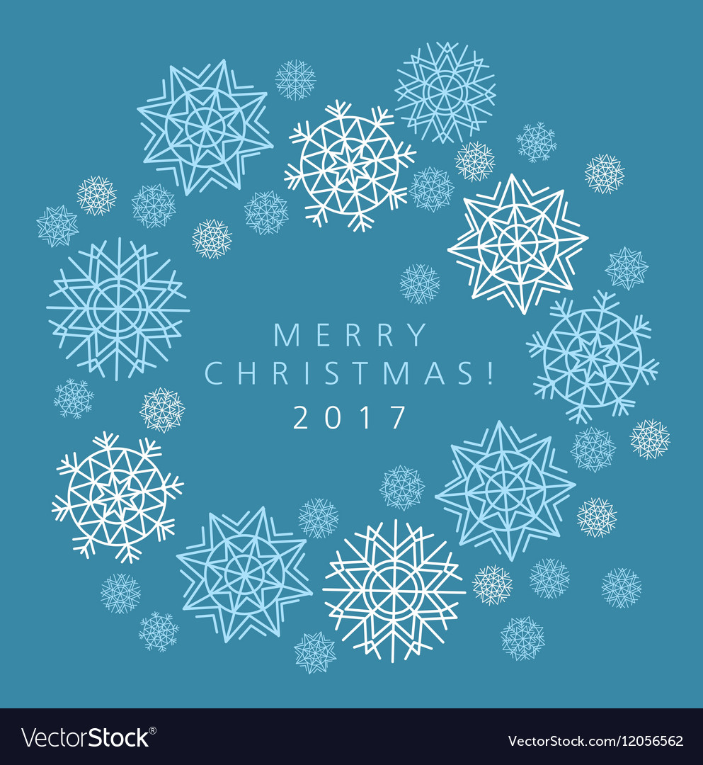 snowflake winter template  Winter blue background with snowflakes template