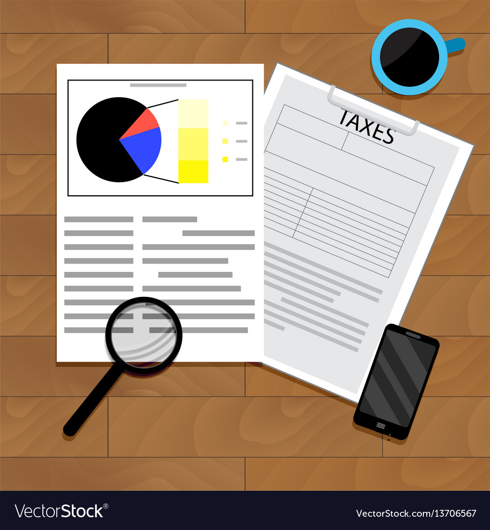 Analytics of taxation vector image