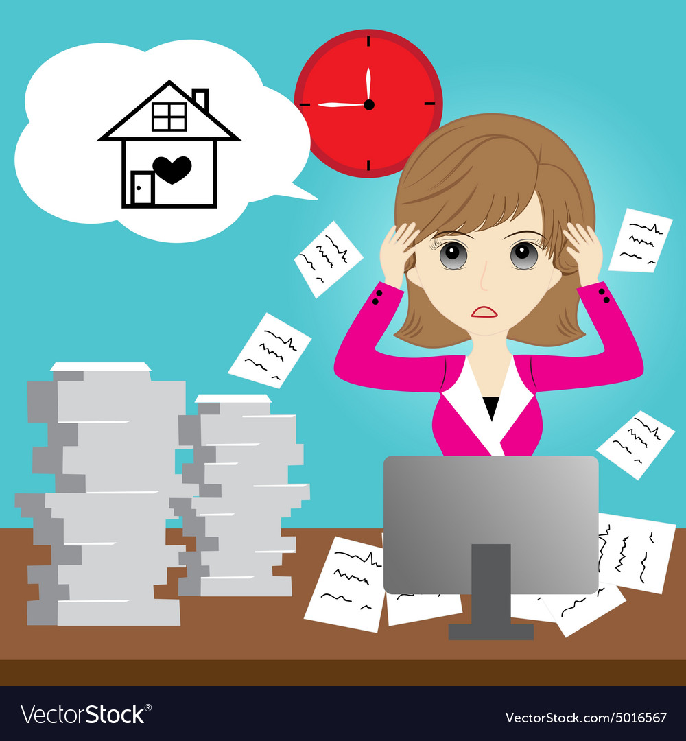 Busy business woman vector image