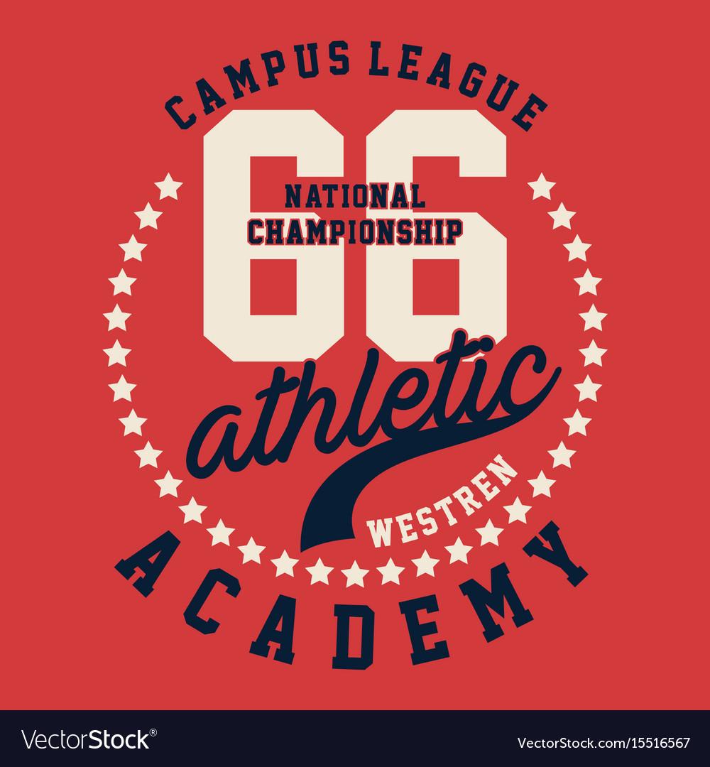 Graphic campus league athletic