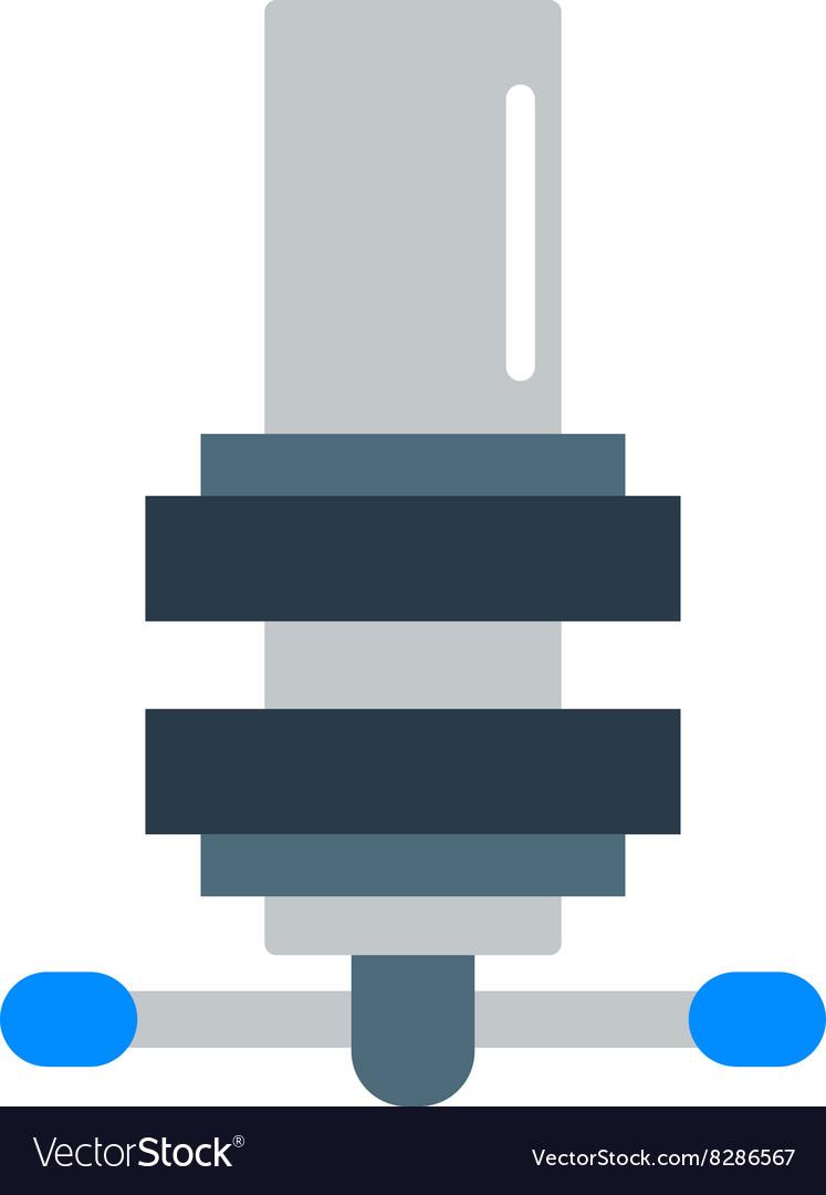 Mechanism icon flat style isolated on white