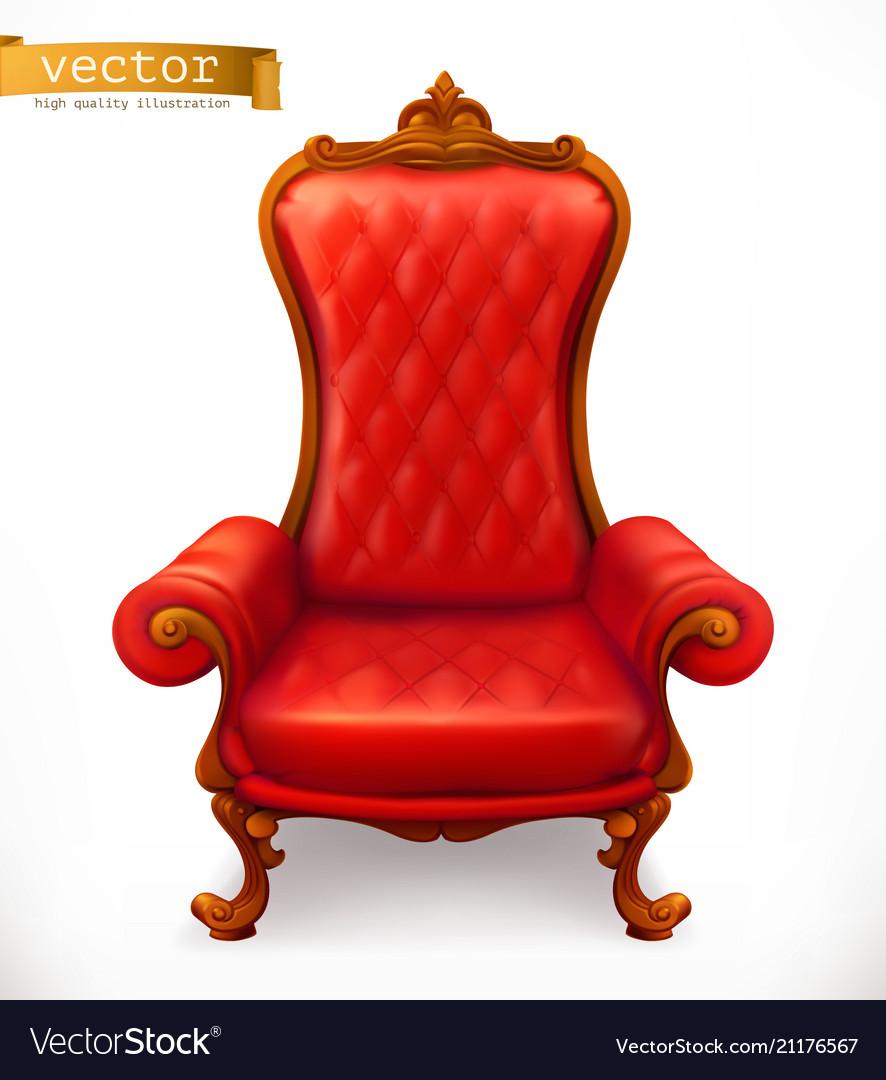Royal chair 3d icon