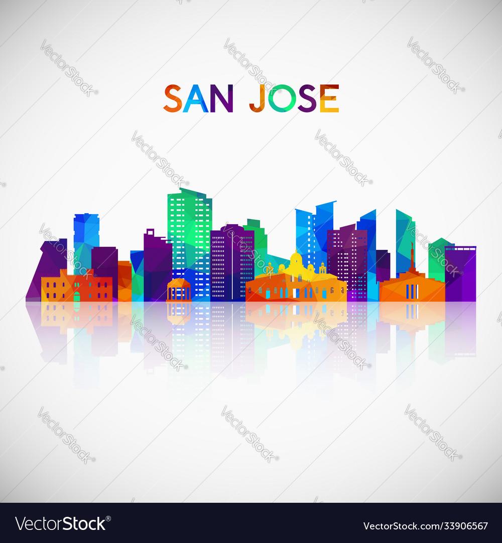 San jose costa rica skyline silhouette