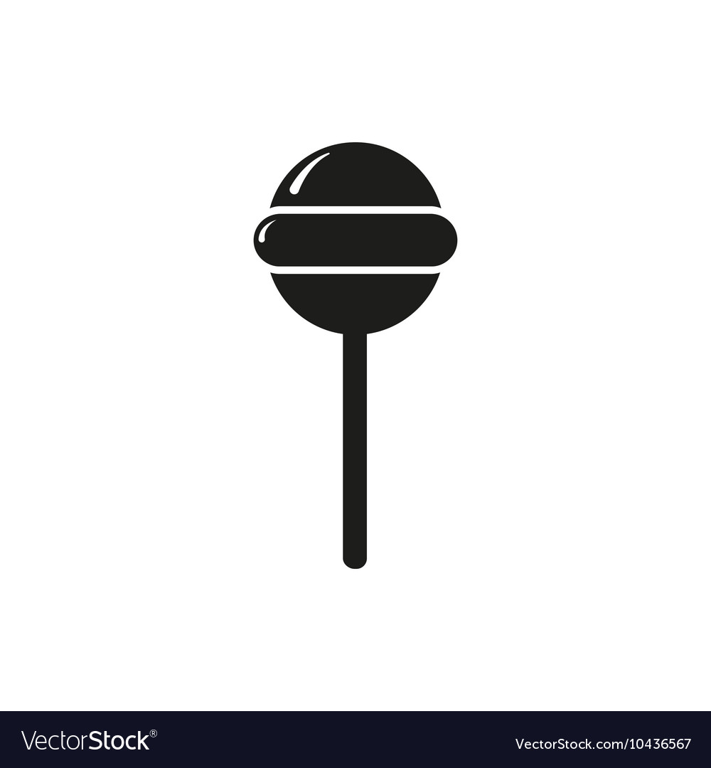 Simple black style round lollipop