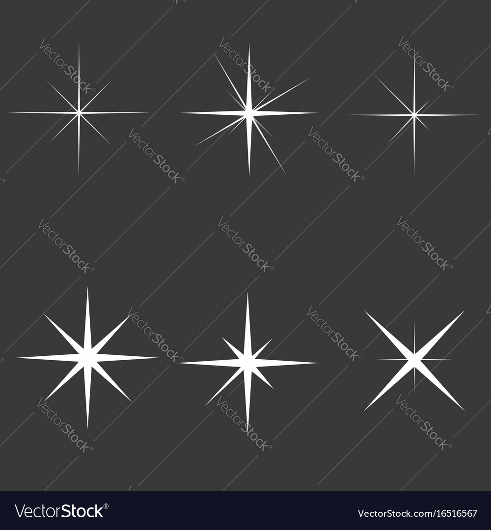 Sparkle lights stars set glowing light effect
