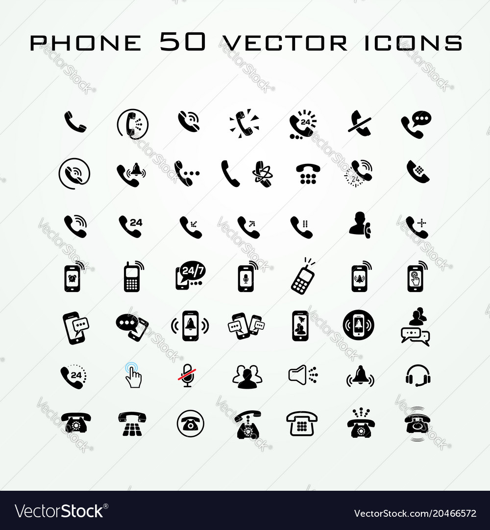 50 universal outline icons for web and mobile