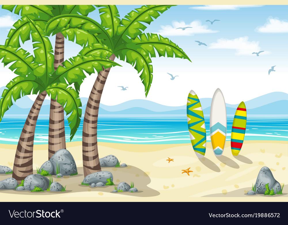 A tropical coastal landscape