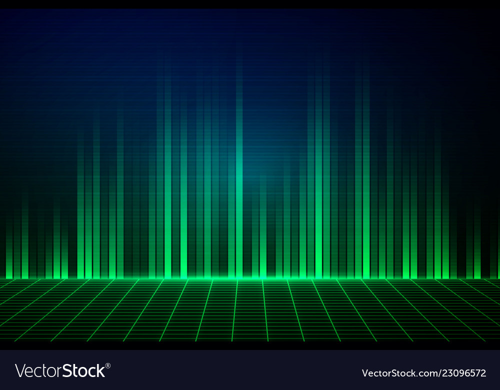 Abstract green equalizer background