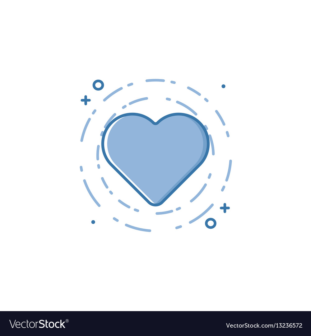 Business of blue colors heart