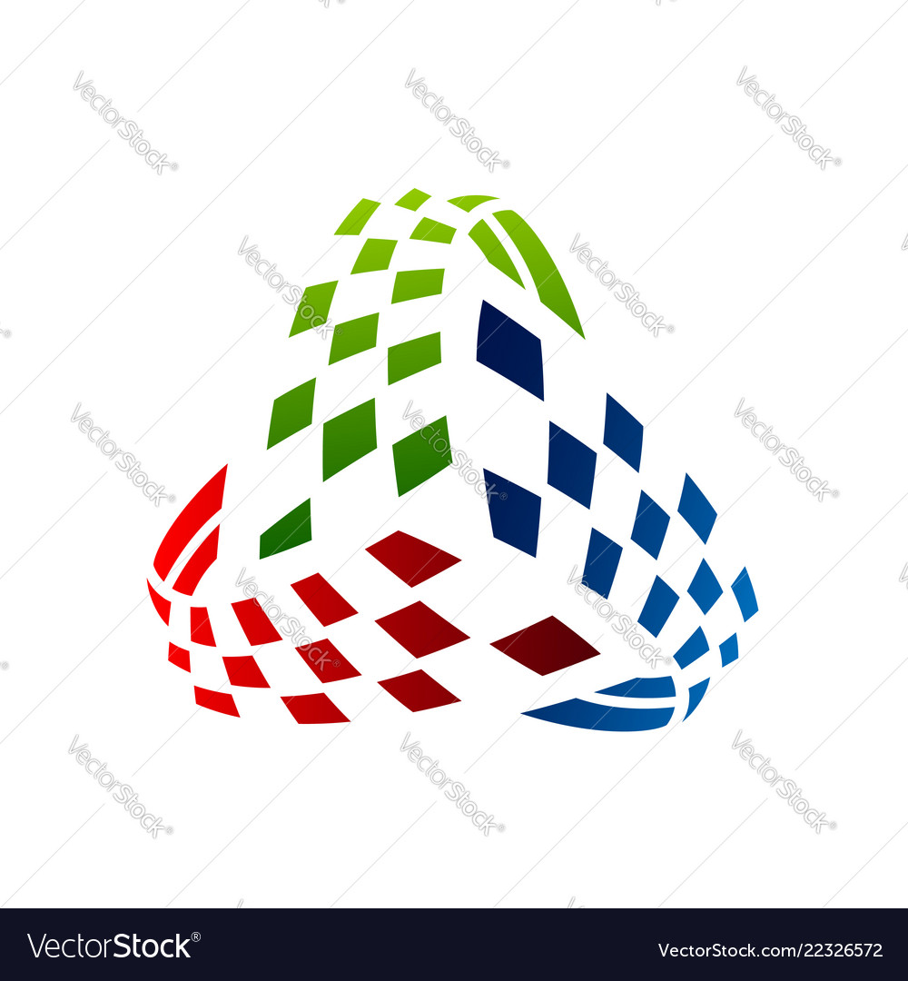 Colorful triangle abstract logo design eps 10