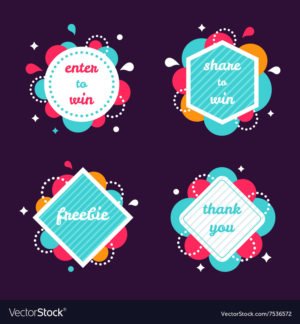 Colourful Internet Banners Templates Set
