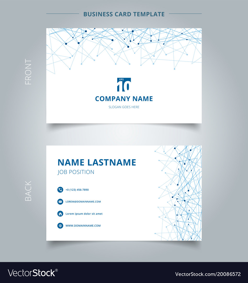 Creative business card and name card template vector image friedricerecipe Choice Image