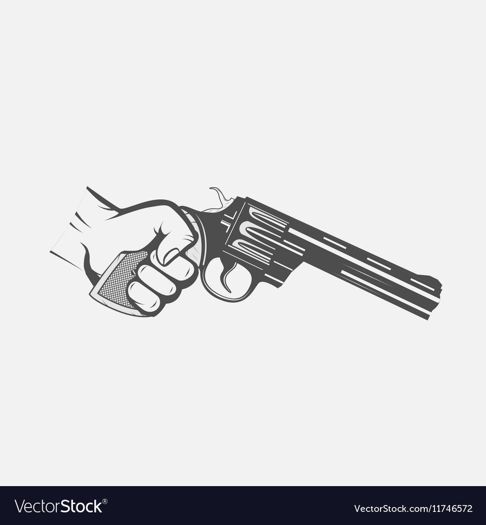 Hand with gun