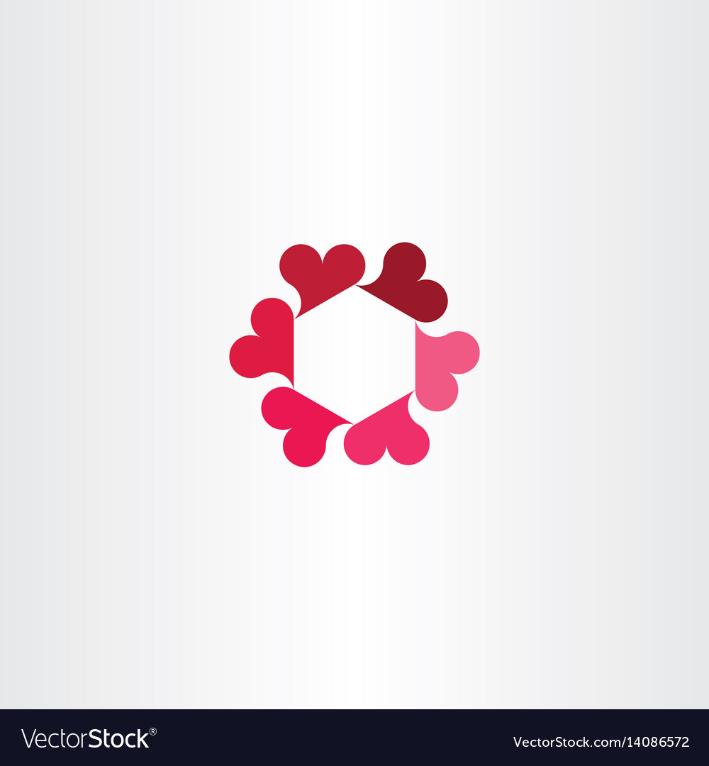 Heart circle rotation icon logo love sign