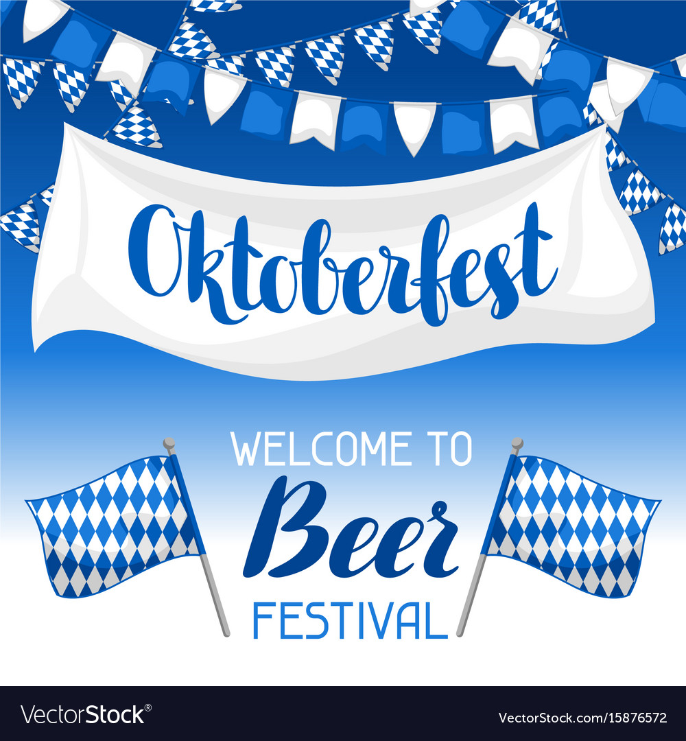 Oktoberfest welcome to beer festival invitation
