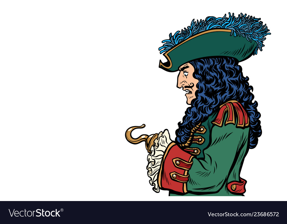 Pirate with hook hand